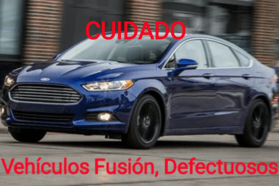 FORD, ALERTA A USUARIOS DEFECTO EN SU VEHÍCULO FUSIÓN