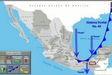 FRENTE FRÍO 44, LLEGARÁ A REFRESCAR LA PENÍNSULA DE YUCATÁN