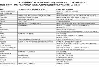 TRANSPORTE GRATUITO PARA ASISTIR AL ANIVERSARIO 18 DE ANTORCHA CAMPESINA