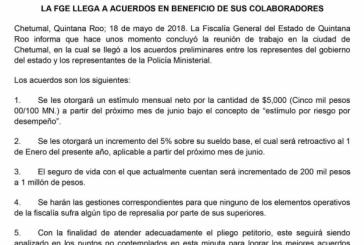 TERMINA PARO DE LABORES DE  AGENTES MINISTERIALES EN  QUINTANA ROO