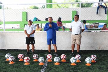 EMILIO JIMÉNEZ, INAUGURA  TORNEO DE FÚTBOL RÁPIDO EN LÁZARO CÁRDENAS