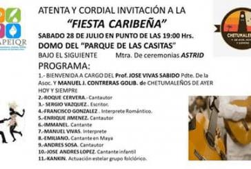 FIESTA CARIBEÑA, EN EL PARQUE DE LAS CASITAS