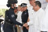 INAUGURAN BASE DE LA POLICÍA ESTATAL EN EL MUNICIPIO DE SOLIDARIDAD