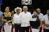 JOSÉ BALADEZ Y ARLETH MOLGORA INAUGURAN DOMO DE USUS MULTIPLES, PARQUE INFANTIL Y CANCHA DE FUTBOL EN COMUNIDADES DEL MUNICIPIO