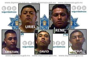 Estos cinco iban bien armados