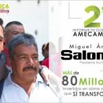 EN AMECAMECA SE INVIRTIERON MÁS DE 80 MILLONES EN OBRAS