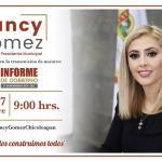 EL LUNES A LAS 9 AM, SEGUNDO INFORME DE NANCY GÓMEZ, ESCÚCHALA POR SUS REDES SOCIALES