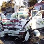 APARATOSO ACCIDENTE EN LA CARRETERA TOLUCA-VILLA VICTORIA, EN ALMOLOYA DE JUÁREZ