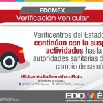 CONTINÚA SUSPENSIÓN DEL SERVICIO DE VERIFICACIÓN EN EDOMÉX