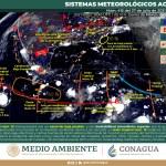 PRONÓSTICO DE LLUVIAS MUY FUERTES EN SINALOA, NAYARIT, JALISCO Y MICHOACÁN CON DESCARGAS ELÉCTRICAS Y POSIBLES GRANIZADAS