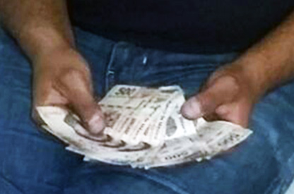 5 mil pesos en efectivo