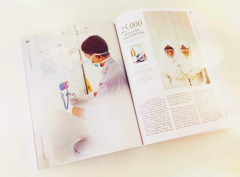 Beispielseite: Magazin zum Geschäftsbericht 2014 von Fresenius Medical Care