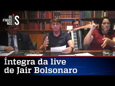 Íntegra da live de Jair Bolsonaro de 30/07/20