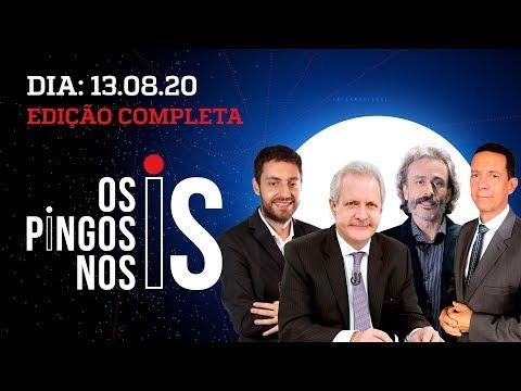 OS PINGOS NOS IS – 13/08/20 – ENTREVISTA COM BOLSONARO / GILMAR E MST JUNTOS / MAIA CONTRA A DIREITA