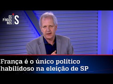 Augusto Nunes: Se Márcio França chegar ao segundo turno, ganha a eleição