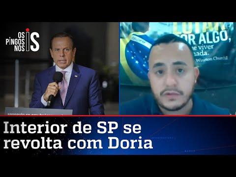 Prefeito confronta isolamento imposto por Doria