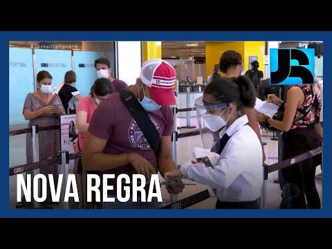 Brasil passa a exigir teste negativo do coronavírus para quem pretende entrar no país