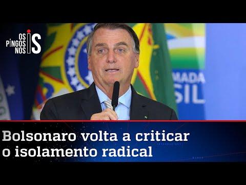 Bolsonaro diz que apenas mostrou números e não quis provocar governadores