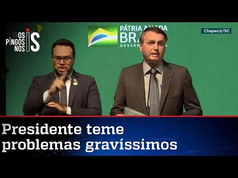 Em tom de desabafo, Bolsonaro faz discurso marcante em Chapecó