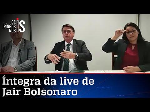 Íntegra da live de Jair Bolsonaro de 29/04/21