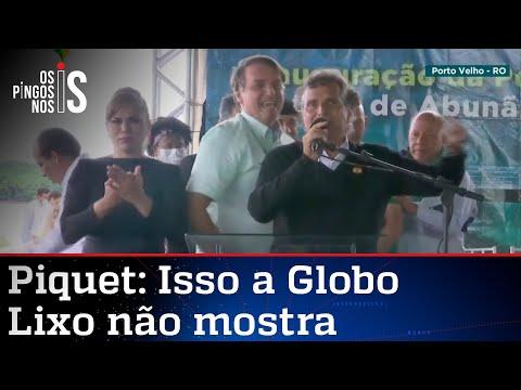 Ao lado de Bolsonaro, Nelson Piquet chama Globo de lixo; veja vídeo