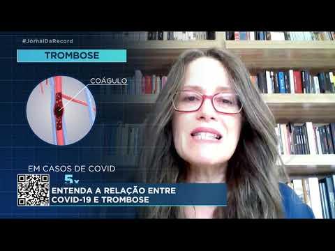 Complicação comum em pacientes internados com covid-19, trombose atinge 30% dos infectados