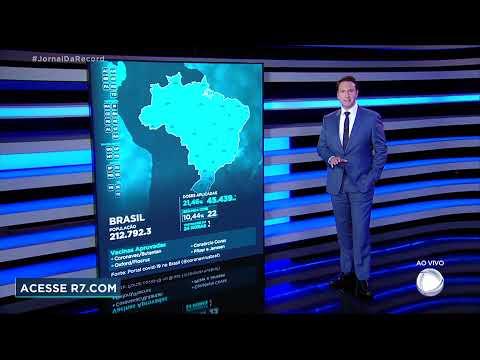 Vacinômetro: 45.439.232 (21,46%) brasileiros tomaram primeira dose de vacina contra covid