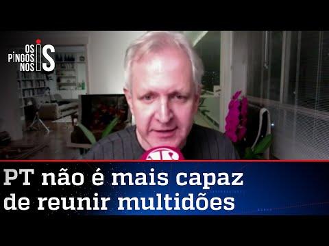 Augusto Nunes: Gleisi copia o namorado Lindbergh e faz comício sem plateia