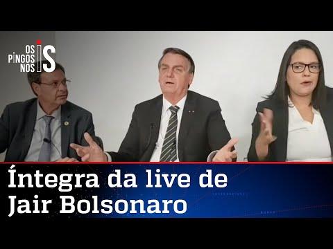 Íntegra da live de Jair Bolsonaro de 10/06/21