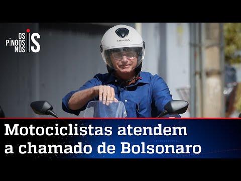 Bolsonaro ironiza Doria e fala em milhares de motos em passeio em SP