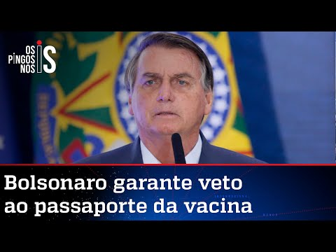 Exclusivo: Bolsonaro revela que vetará passaporte da vacina