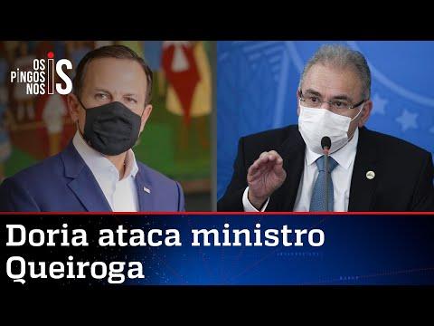 Governadores usam vacina enviada por Bolsonaro para fazer política