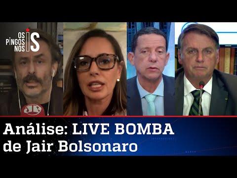 Comentaristas analisam LIVE BOMBA de Jair Bolsonaro de 29/07/21