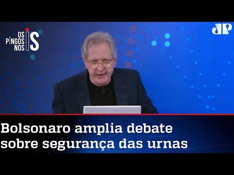 Augusto Nunes: Fatos colocam sob suspeita aqueles que divinizam o voto eletrônico