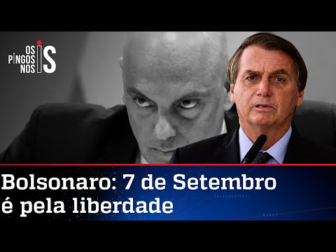 Bolsonaro alerta que Moraes espera momento para atacá-lo com sanção