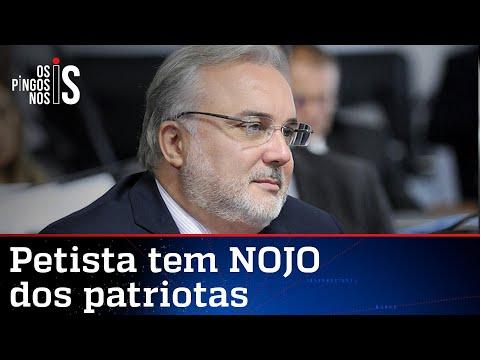Senador do PT que atacou Ana Paula manifesta ódio a patriotas