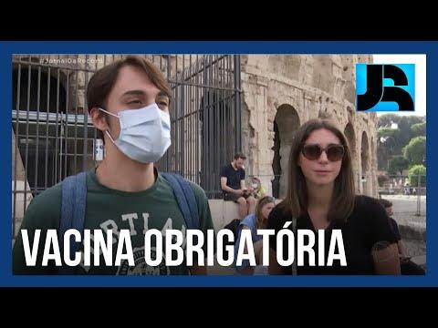 Itália anuncia que vacina contra a covid-19 será obrigatória para todos os trabalhadores