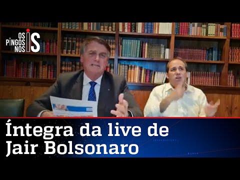 Íntegra da live de Jair Bolsonaro de 14/10/21