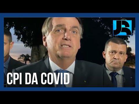 Presidente Jair Bolsonaro ironiza o pedido de indiciamento pela CPI da Covid