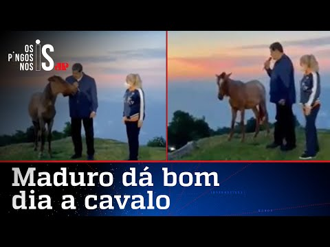 Maduro faz live conversando com cavalo para homenagear Chávez