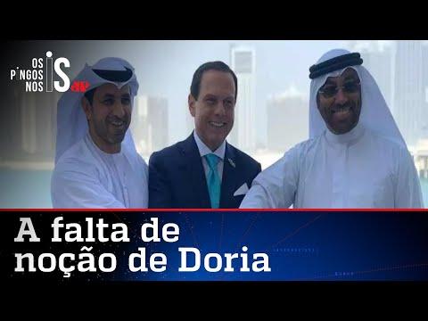 """Doria vai ao interior da Paraíba e pergunta: """"Quem aqui já foi a Dubai?"""""""