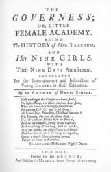 """Frontispício da primeira edição de """"The Governess"""""""