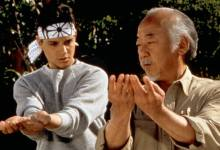 Photo of Mr. Miyagi, Daniel-San e os Cobra Kai