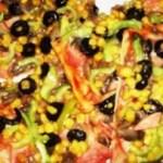 Pizza de casa cu sunca de curcan