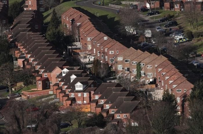 Rows of houses are seen in High Wycombe, Britain, February 7, 2017. REUTERS/Eddie Keogh