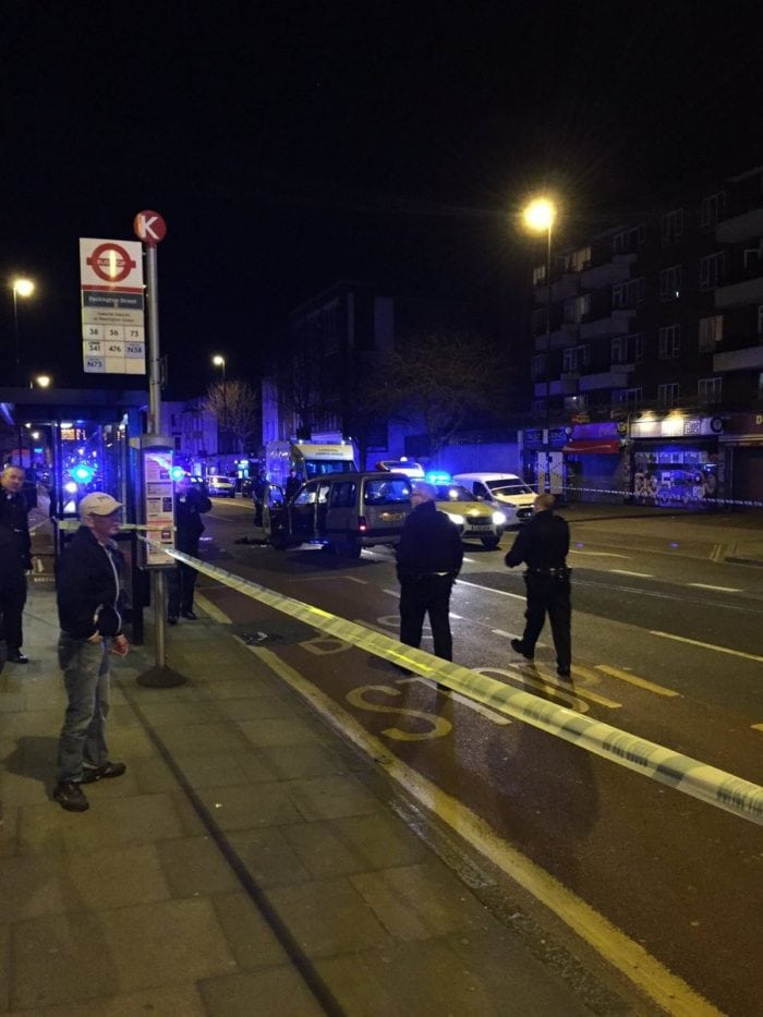 Four people were injured in the incident (Photo: Twitter)