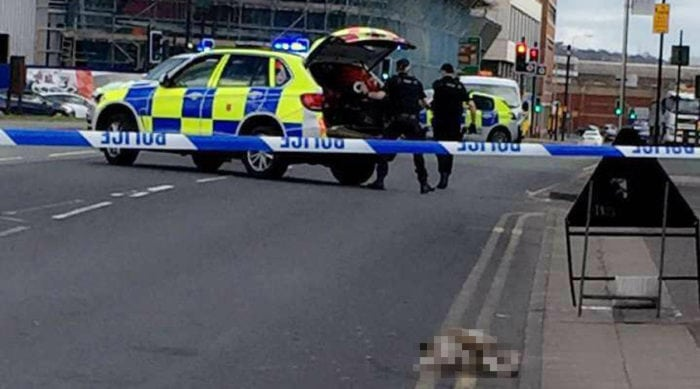 Armed police shoot dogs dead after members of public injured