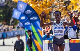 Mary Keitany Wins the Women's Race.