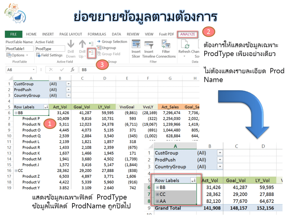 Pivot Table_Collapse_Expand_Entire Field