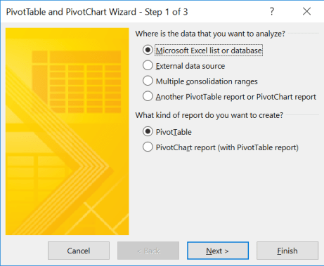 Pivot Wizard_Step1